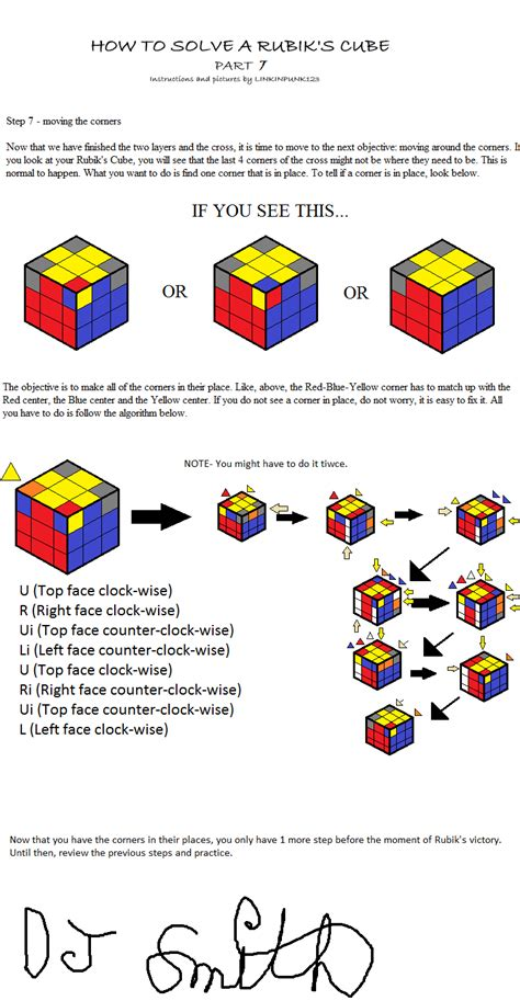 tutorial for solving the rubik s cube how to solve a rubik s cube 7 by linkinpunk123 on deviantart