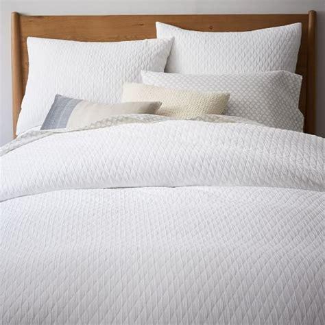 white textured bedding organic ripple texture duvet cover shams stone white