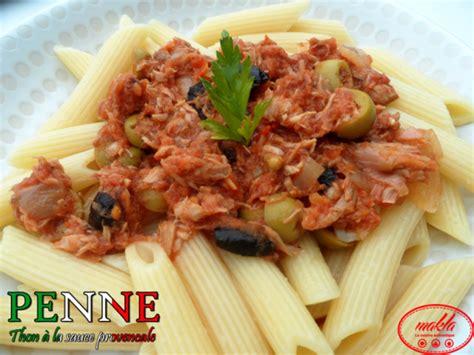 駘駑ent de cuisine ind駱endant penne au thon et 224 la sauce proven 231 ale makla la