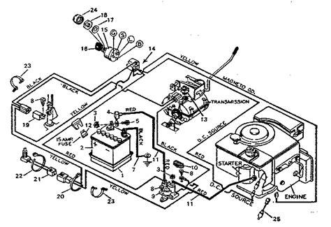 wiring diagram for craftsman lawn mower 46 wiring