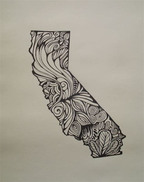 california outline tattoo 15 best line drawing images on line drawings