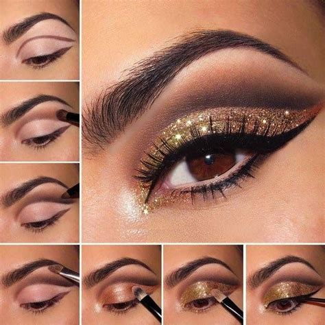 eyeshadow tutorial dark best 25 glitter makeup tutorial ideas on pinterest