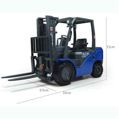 kdw 1 20 scale diecast forklift truck construction vehicle