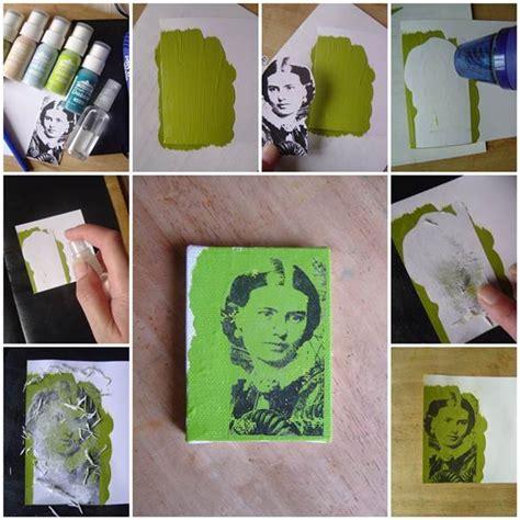 acrylic paint transfer diy photo transfer using acrylic paint icreativeideas
