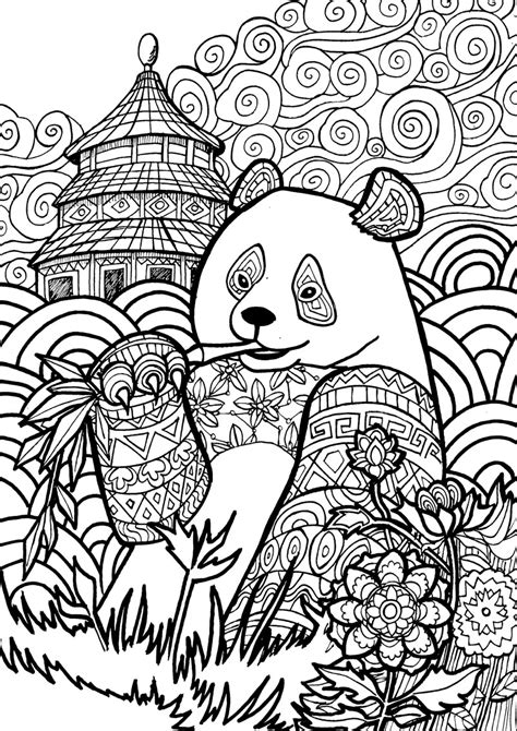 pages to color panda coloring pages best coloring pages for