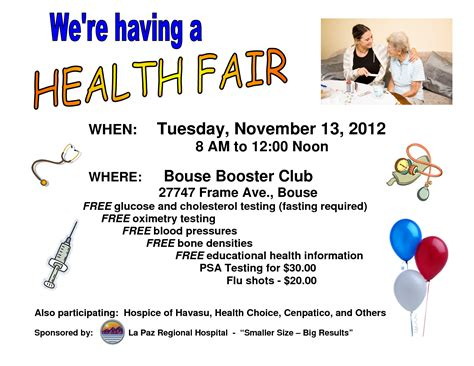 fair flyer template free 10 best images of health fair editable flyer templates