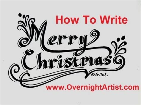 write merry christmas fancy letters speed tutorial youtube