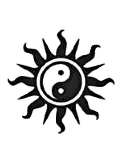Aufkleber Sticker Sonne by Mm Aufkleber Sonne Ying Yang 7cm Schwarz