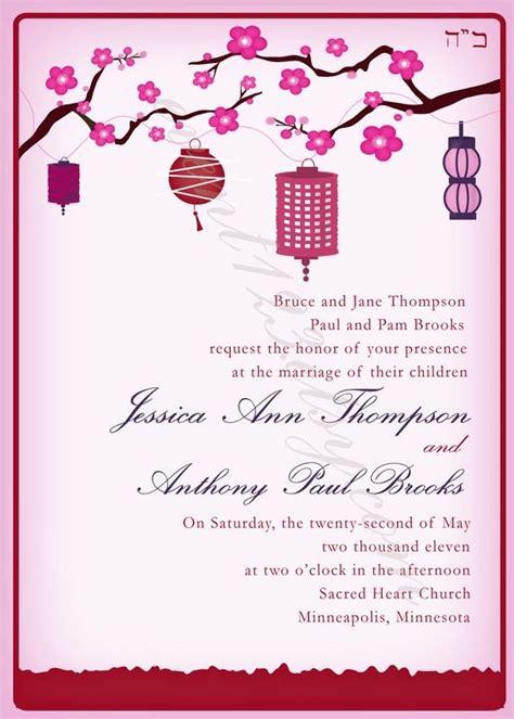 Wedding Invitations Asian Theme by Asian Themed Invitation Ideas