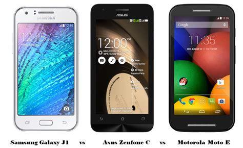 Samsung Galaxy J1 Vs Zenfone 5 Samsung Galaxy J1 Vs Asus Zenfone C Vs Motorola Moto E