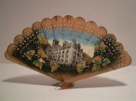disney hand held fans vintage wooden hand held ladies fan by lunasattic on etsy