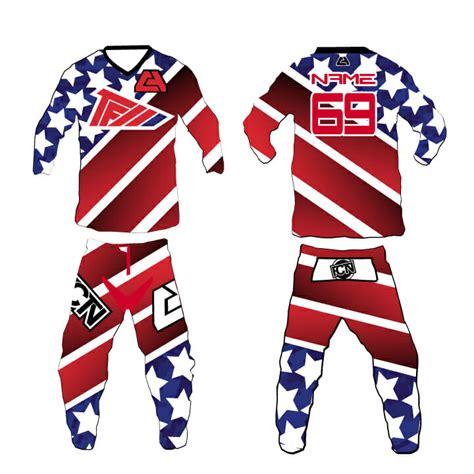 motocross gear set fctn quot merica quot motocross gear set custom apparel inc
