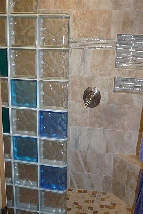 colored shower colored glass block wall provides a stylish and durable