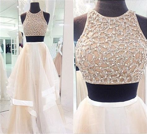 2 pieces prom dress   Tumblr