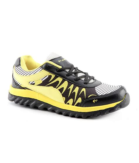 leather sports shoes elligator black synthetic leather sports shoes price in