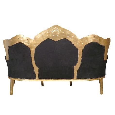 canap 233 baroque noir et or meuble baroque