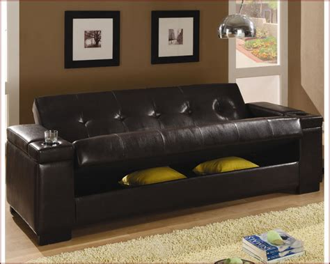 Coaster Sofa Sleeper Coaster Furniture Sleeper Sofa With Storage In Brown Co300143