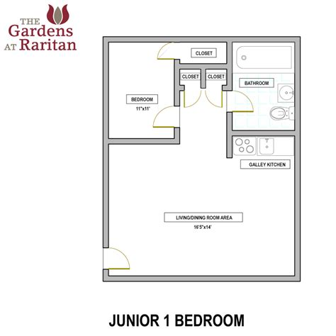 junior 1 bedroom the gardens at raritan availability floorplans the