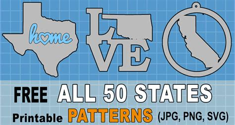 state outlines maps stencils patterns clip art