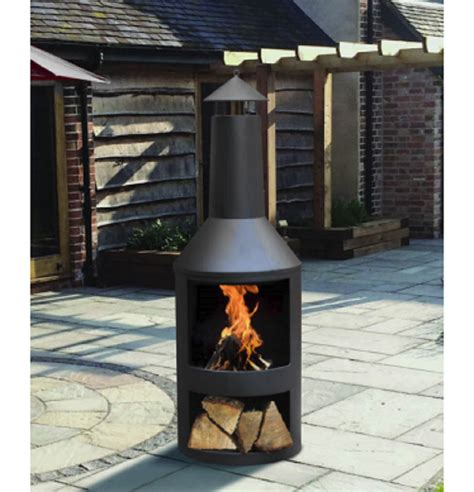 large chiminea outdoor fireplace large log burner garden black chiminea outdoor patio