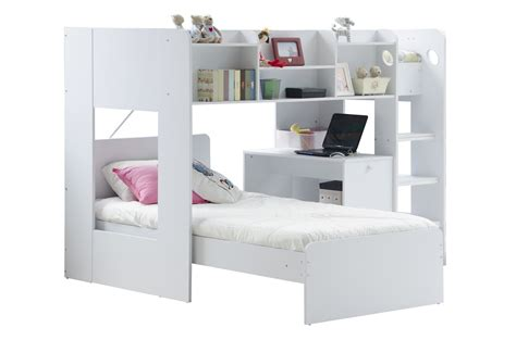 L Shaped Bunk Bed With Desk Wizard L Shaped Bunk Bed Rainbow Wood