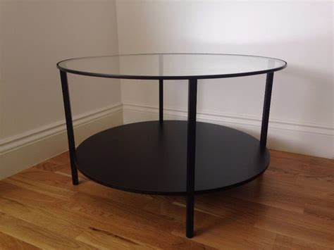 Vittsj 214 Coffee Table Ikea Used Glass Brown Black Round Vittsjo Coffee Table