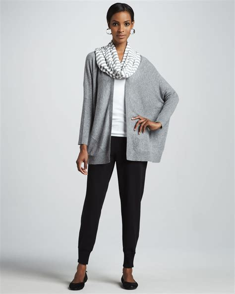 Origami Cardigan - eileen fisher speckled origami cardigan tank striped