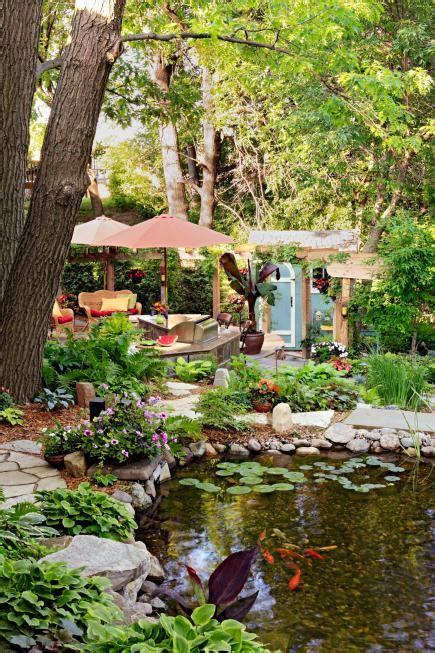 beautiful backyard 35 beautiful backyards midwest living