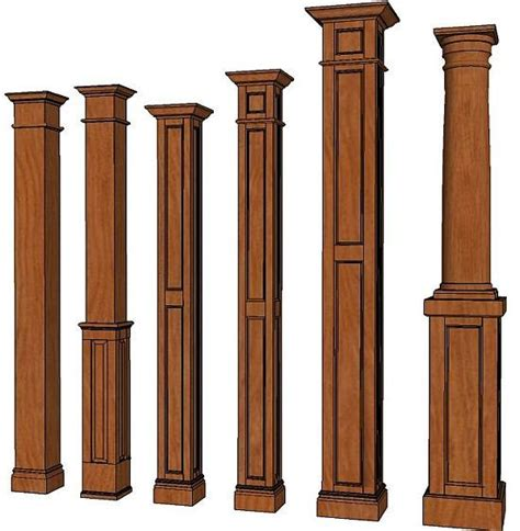 square columns interior wood columns decorative