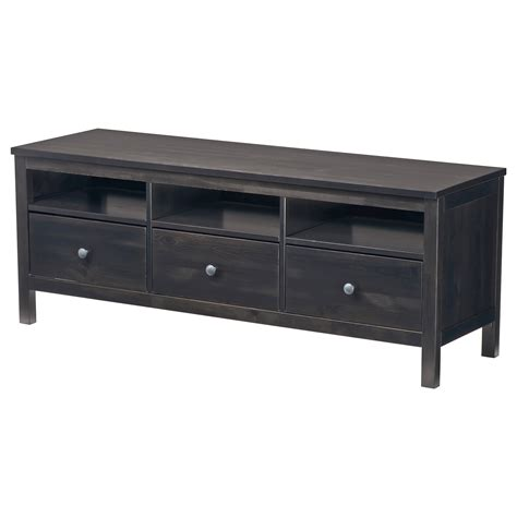 bench media hemnes tv bench black brown 148x47 cm ikea