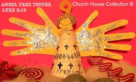 christmas sunday school crafts snacks church house collection tree topper craft quot luke 2 10 quot for