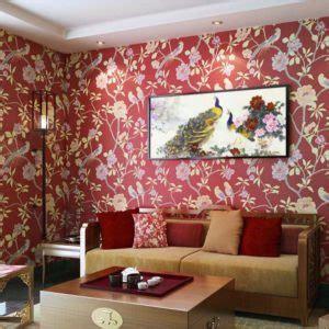 contoh wallpaper dinding ruang tamu elegan rumah impian