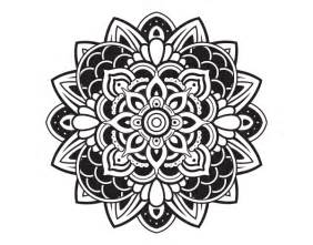 dibujo de mandala decorativa para colorear dibujos net