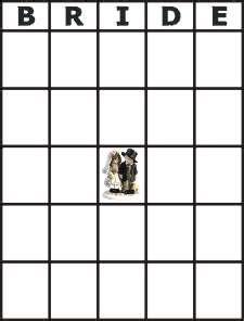 bridal shower bingo template blank printable bingo cards