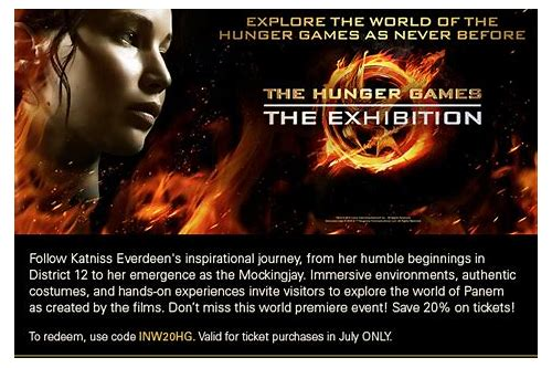 hunger games exhibition new york coupon
