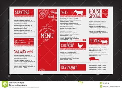 restaurant flyer design vector restaurant cafe menu template design food flyer stock