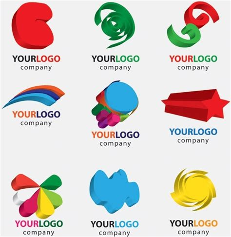 Illustrator Logo Templates threedimensional graphics logo template vector free vector