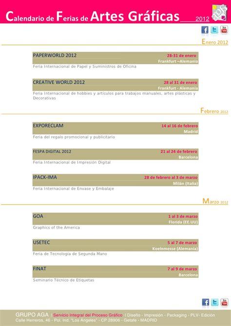 Is Mba Worth It Reddit by Calendario Ferias Artes Gr 225 Ficas A 241 O 2012