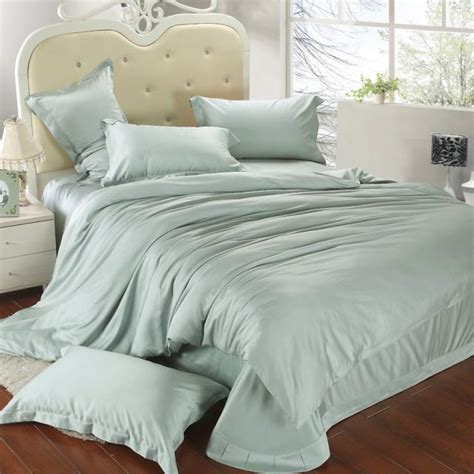 mint green bed sheets luxury king size bedding set queen light mint green duvet cover double bed spread