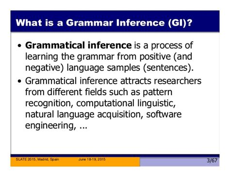 sentence pattern recognition the application of grammar inference to software language