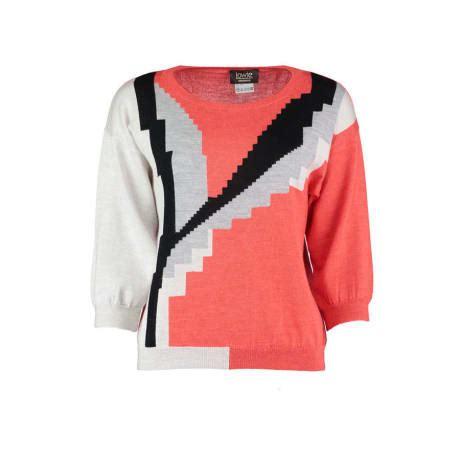 trouvé abstract pattern sweater trouva lowie merino carmen knit sweater
