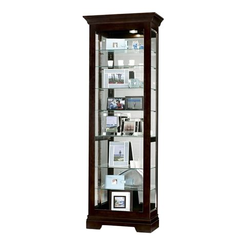 black small curio display cabinet mirror 680412 saloman