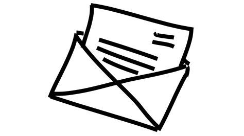 lettere animate message letter animation illustration line drawing