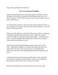 Define Friendship Essay by True Meaning Of Friendship