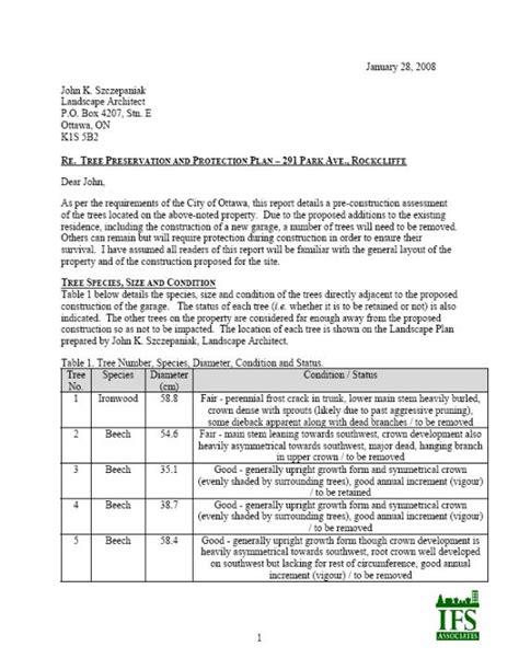 arborist report template report template