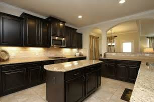 kitchen dark cabinets light granite 14707 yellow begonia dr cypress tx 77433 photo granite