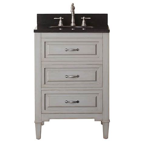 24 Bathroom Vanity With Granite Top Grayish Blue 24 Inch Vanity Combo With Black Granite Top Avanity Vanities