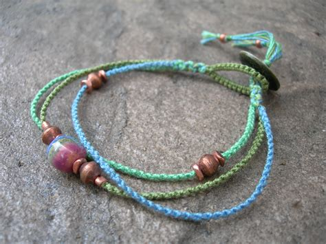 How To Do Macrame Bracelet - kazuri copper macrame bracelet beaded bracelet
