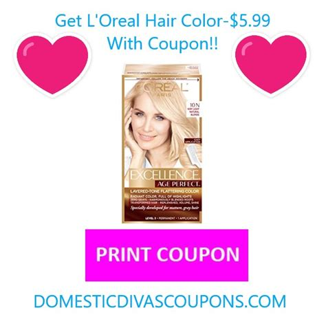 loreal hair color coupon get l oreal hair color 5 99 with coupon domestic divas
