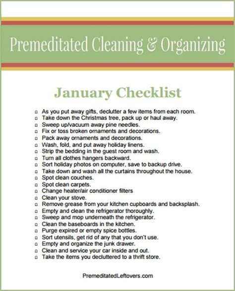 January Cleaning Checklist: How to Restore Order After the